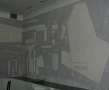Composizione geometrica in bassorilievo