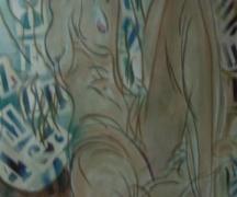 Nudo con pentimenti